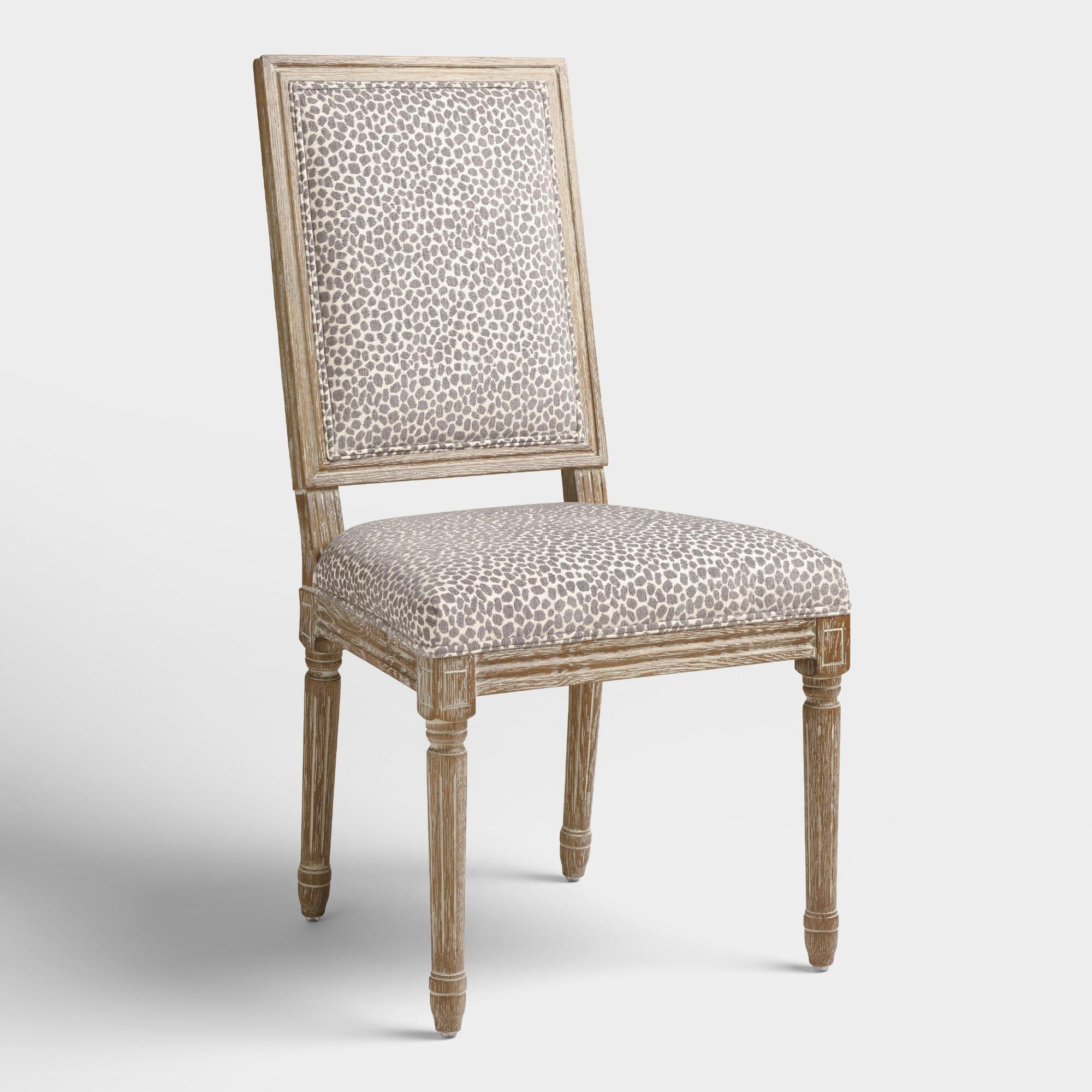 Charcoal Mali Paige Square Back Dining Chairs Set Of 2