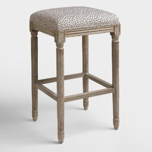 Charcoal Mali Paige Backless Barstool