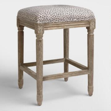 Charcoal Mali Paige Backless Counter Stool