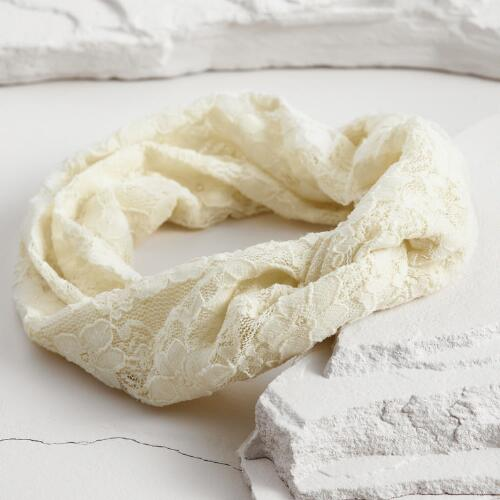 Ivory Lace Turban Headband