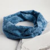 Blue Lace Turban Headband