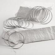 Antique Style Silver Bangle Bracelets Set of 14
