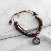 Evil Eye Wood Friendship Bracelet
