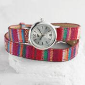 Tribal Fabric Wrap Watch