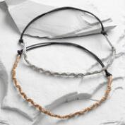 Silver and Rose Gold Third Eye Headbands Set of 2