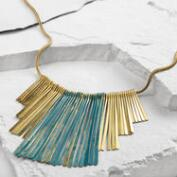 Gold Spoke Patina Necklace