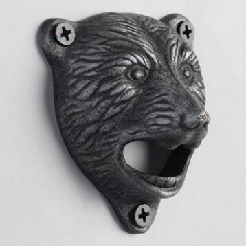 Bear Wall Mounted Bottle Opener