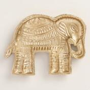 Gold Elephant Trinket Dish