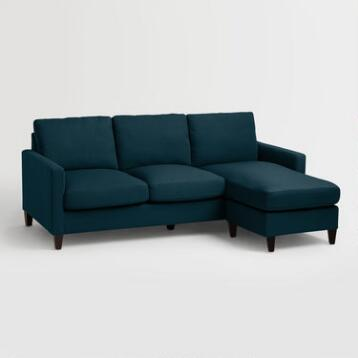 Sofas couches and loveseats world market for Without back sofa