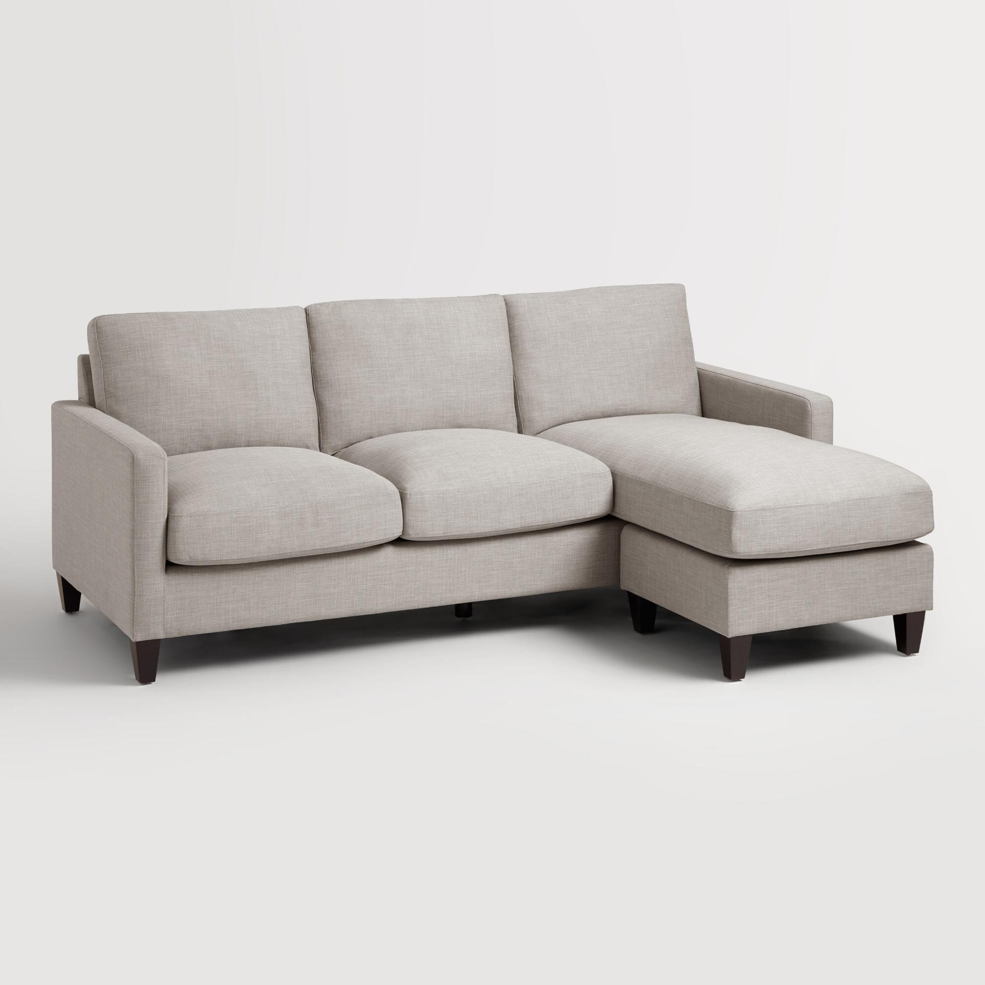 Dove Gray Textured Woven Abbott Sofa World Market