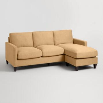 Maize Textured Woven Abbott Sofa
