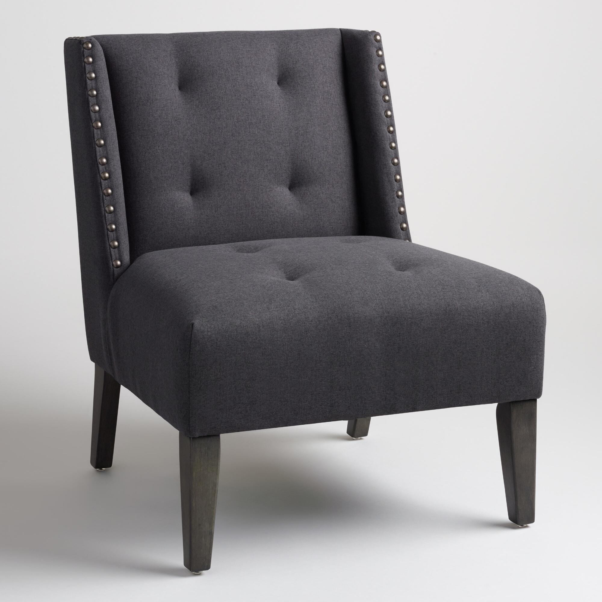 Charcoal Gray Carlin Wingback Chair World Market
