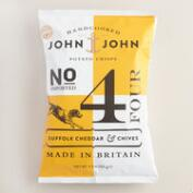 John John Suffolk Cheddar and Chive Potato Crisps