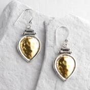 Silver and Gold Teardrop Earrings
