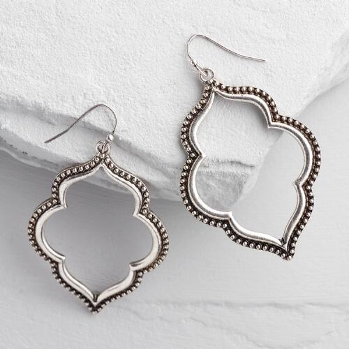 Silver Lantern Drop Earrings