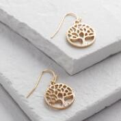 Gold Tree of Life Drop Earrings