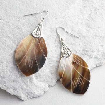 Abalone Shell Drop Earrings