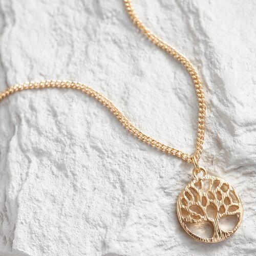 Gold Tree of Life Pendant Necklace