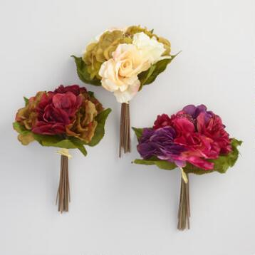Rose and Hydrangea Bunches Set of 3