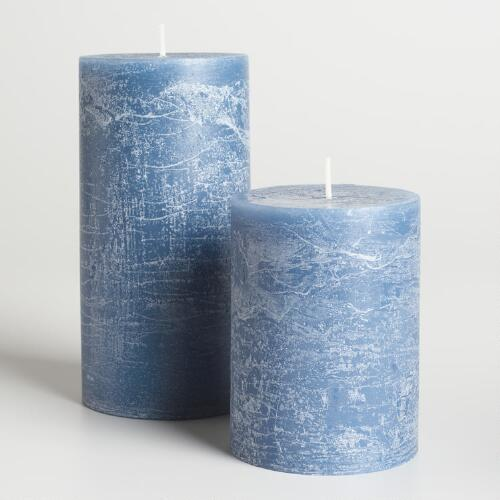 Ocean Blue Rustic Unscented Candle