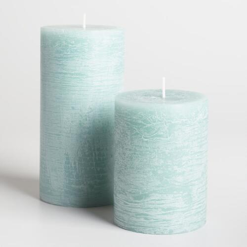 Sage Green Rustic Unscented Candle