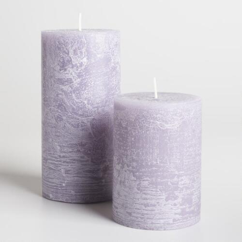 Lilac Rustic Unscented Candle