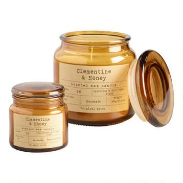 Clementine Honey Apothecary Jar Candle