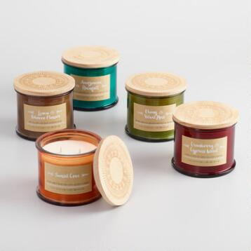 Medallion Stamped Lid Jar Candle Collection
