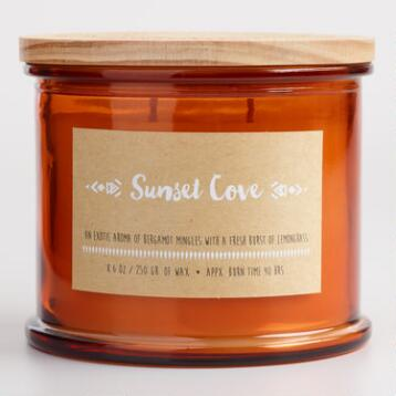 Sunset Cove Medallion Stamped Lid Jar Candle