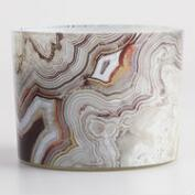 Citrus Woods Agate Jar Candle