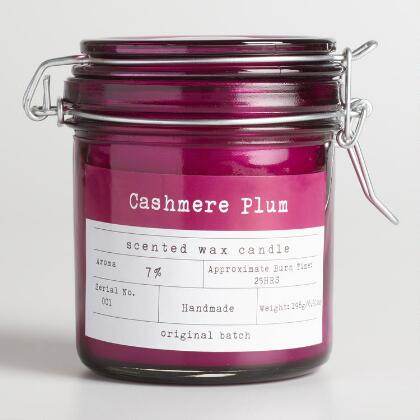 Cashmere Plum Glass Candy Jar Candle