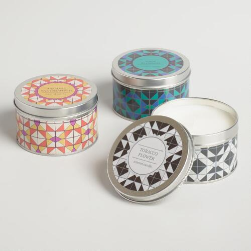 Nomad Tile Candle Tin Collection
