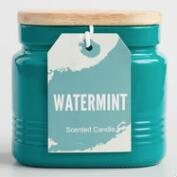 Water Mint Jar Candle with Wood Lid