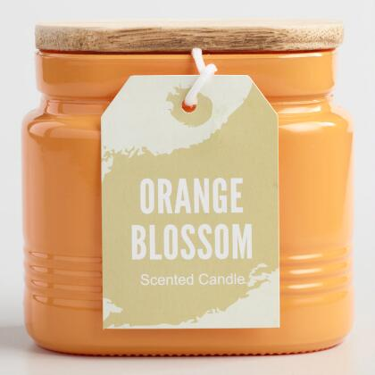 Orange Blossom Jar Candle with Wood Lid