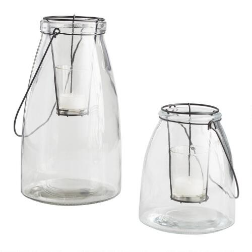 Clear Glass Cheyenne Lantern