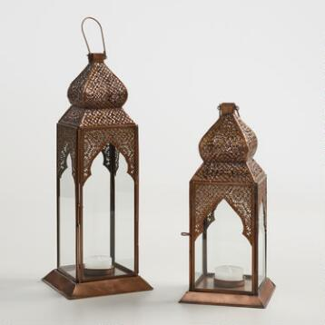 Antique Copper Layla Tabletop Lantern
