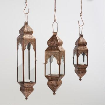 Antique Copper Layla Hanging Lantern