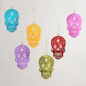 Los Muertos Skull Hanging Decor Set of 6