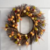 Twig and Puff Ball Wreath