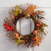 Mixed Fall Wreath with Gourds