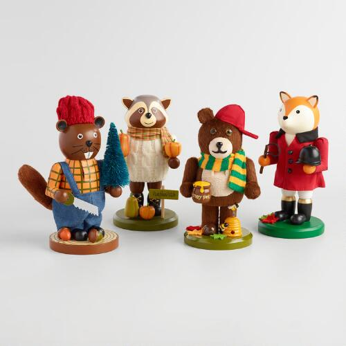 Woodland Animal Nutcrackers Set of 4