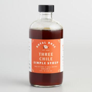 Royal Rose Three Chile Simple Syrup