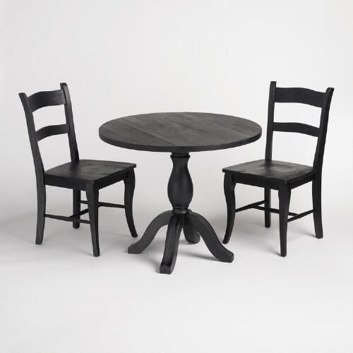 Black Jozy Drop Leaf Dining Collection