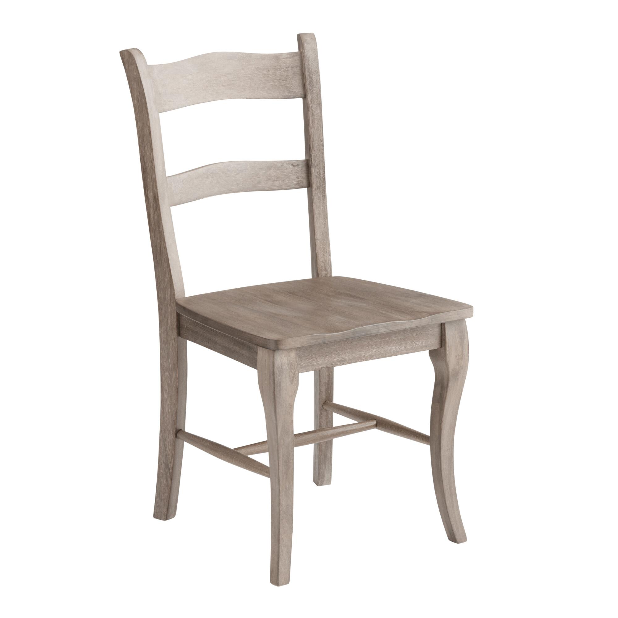 Weathered gray wood jozy dining chairs set of 2 world market for Wood dining room furniture