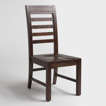 Distressed Wood Donnovan Dining Chairs Set of 2