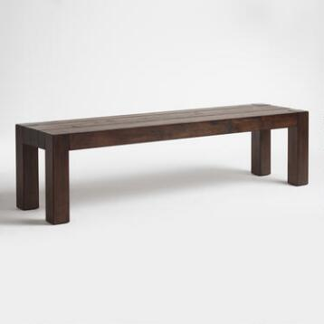 Distressed Wood Donnovan Dining Bench