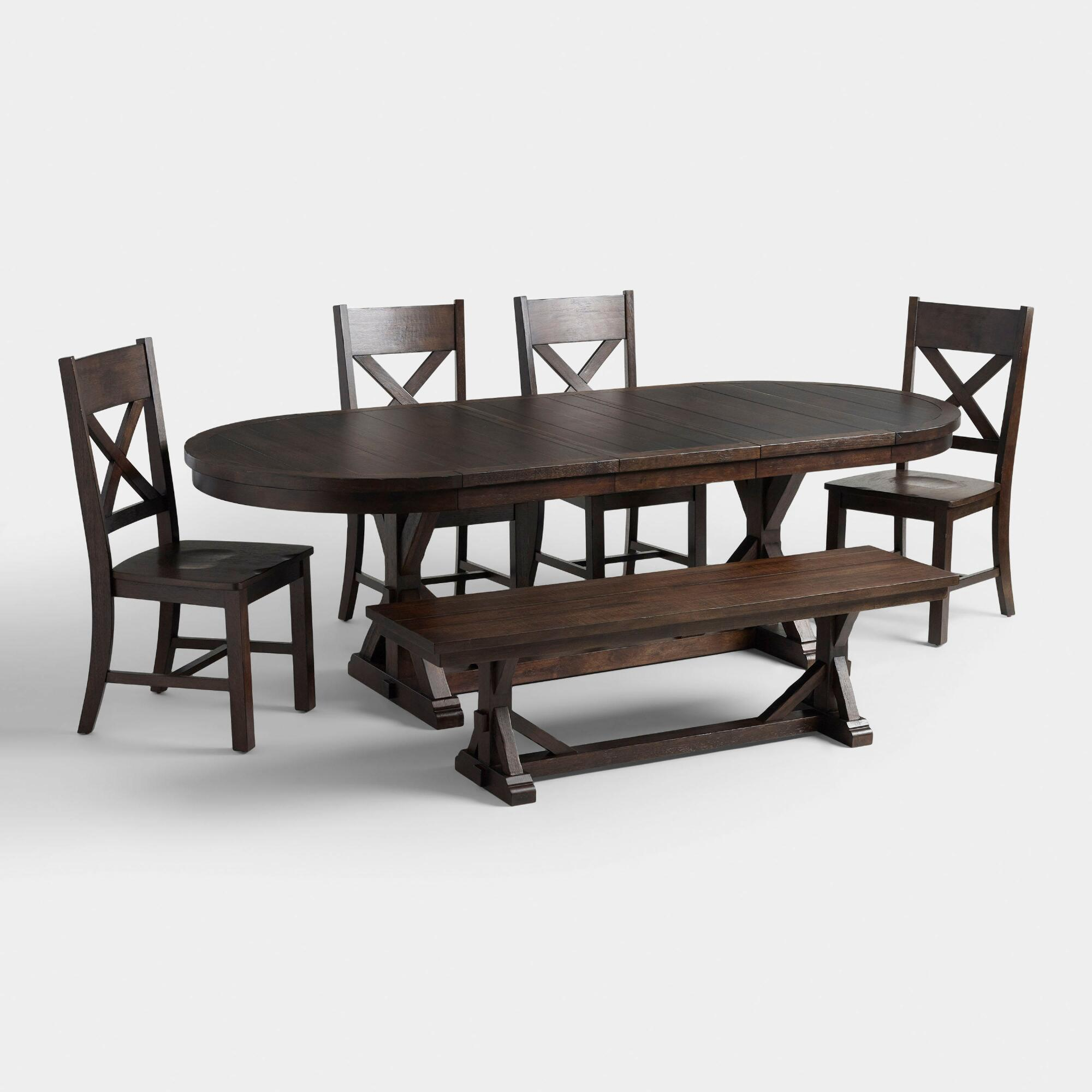 Dining Room Inexpensive Dining Room Table With Bench And: Rustic Brown Brooklynn Dining Collection