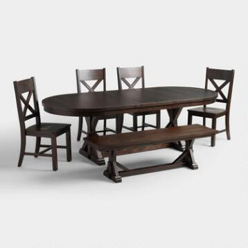 World Market Dining Room Rustic Brown Brooklynn Collection