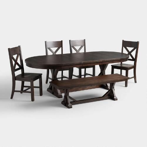 Rustic Brown Brooklynn Dining Collection