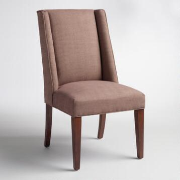 Cocoa Herringbone Lawford Dining Chair